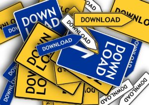 Señales de descarga para ilustrar cómo instalar aplicaciones
