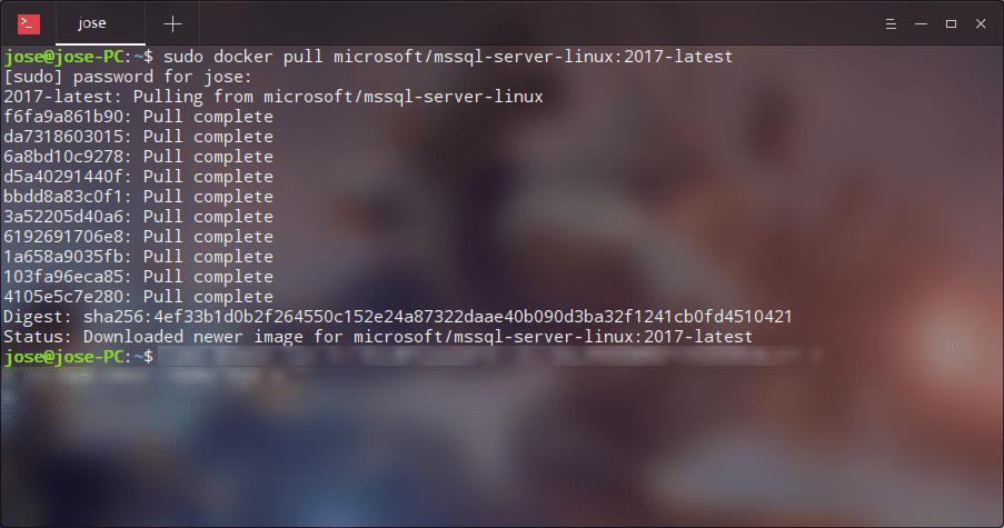 Descarga sql server