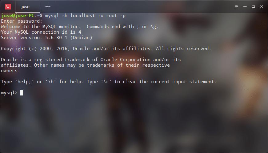 MySql server testing