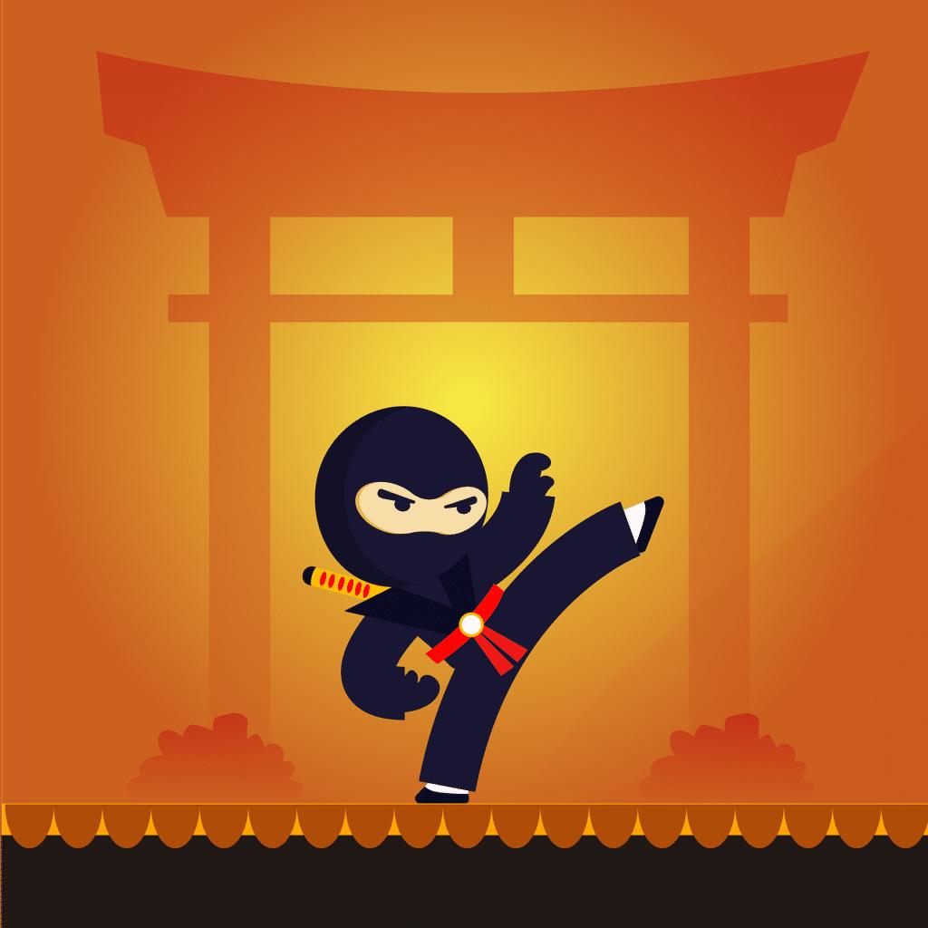 Ninja saltando