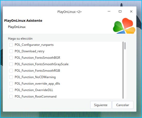 Funciones para PlayonLinux