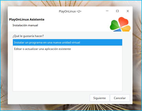 Asistente de PlayonLinux
