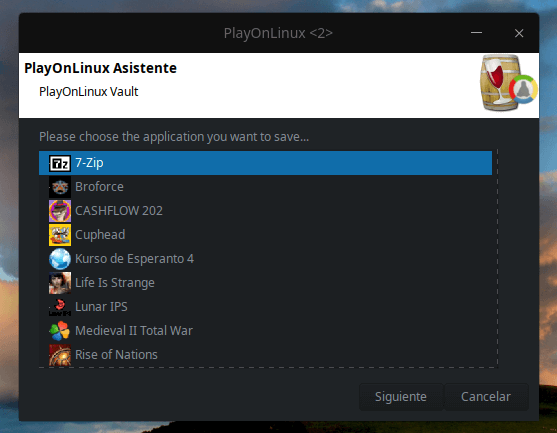 PlayonLinux Vault