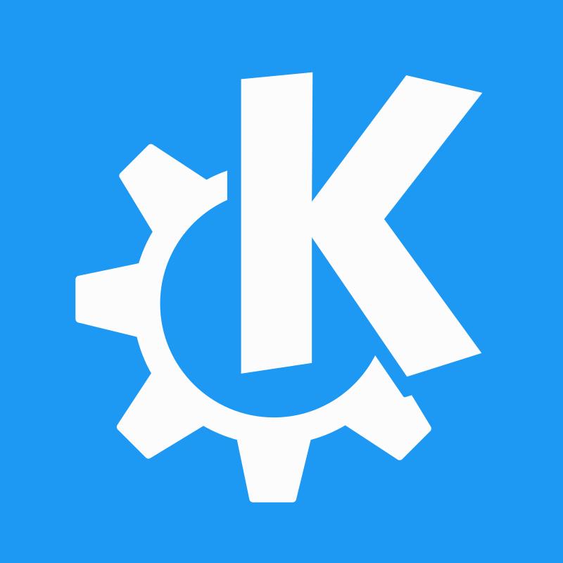 Logotipo de KDE para el artículo Guía de aplicaciones de KDE.