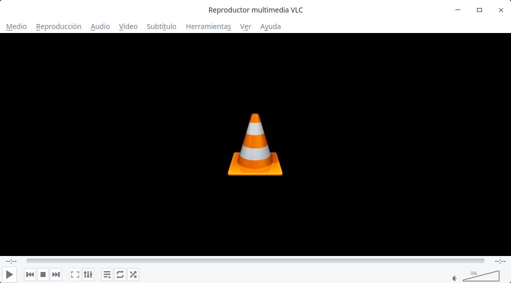 VLC con la paleta de Deepin