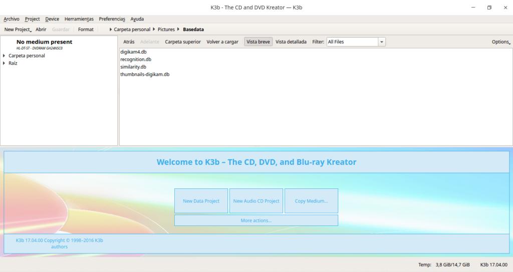 Captura de k3b