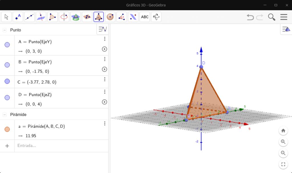 Pirámide en GeoGebra