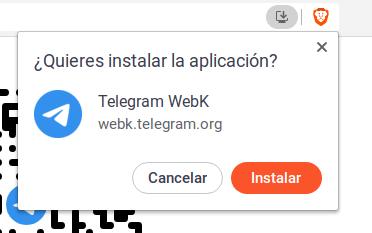 Instalar una aplicación web progresiva (PWA) en Deepin desde Brave