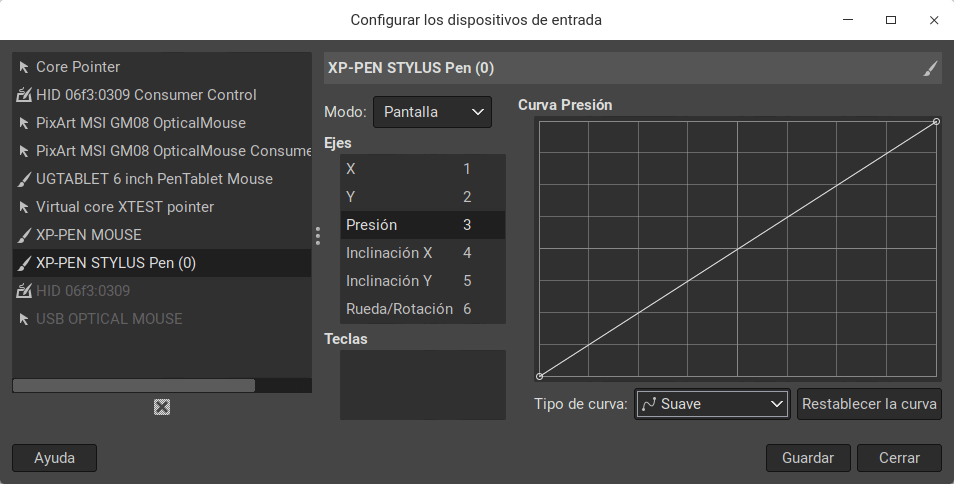 Editar tableta gráfica en GIMP
