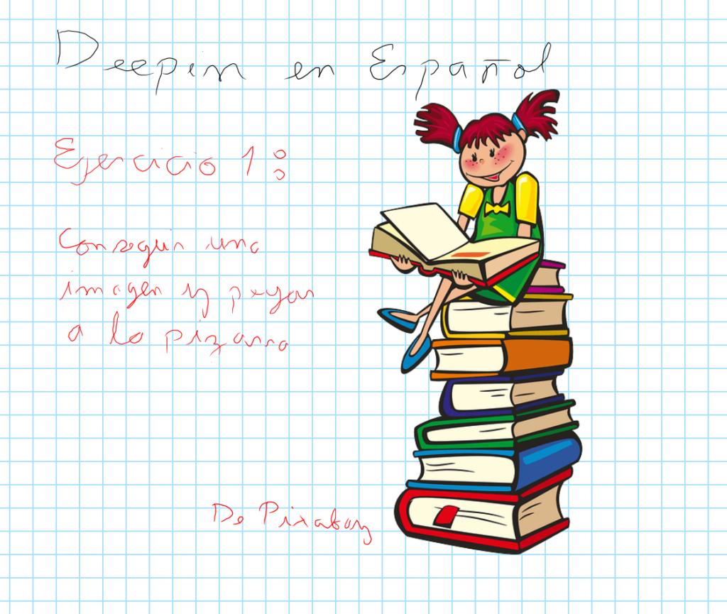 Ejemplo al escribir en pantalla completa junto con una imagen de Pixabay