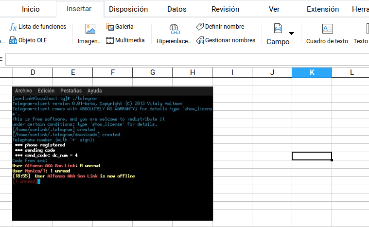 Añadir imagen en Calc