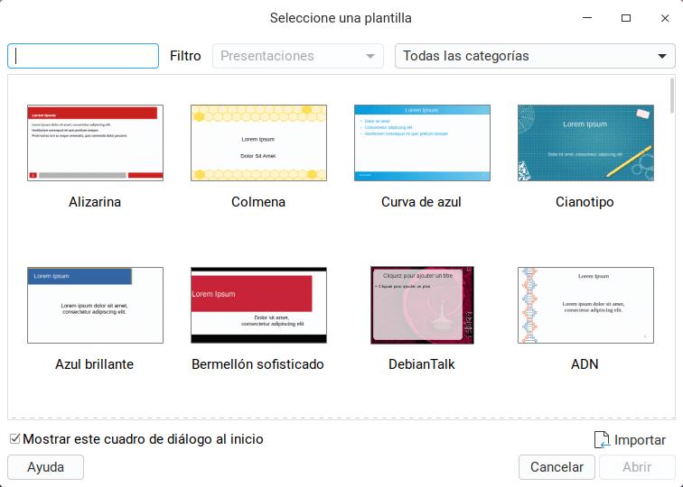 Catálogo de diapositivas
