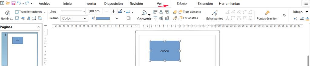 Editar dibujo en LibreOffice Draw